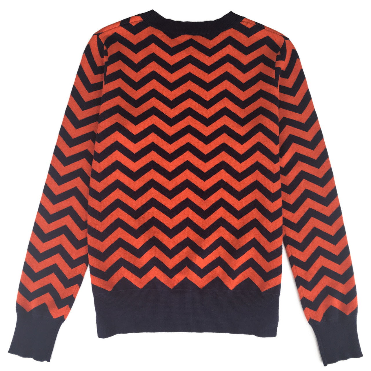 Chevron Stripe Crew Neck Jumper
