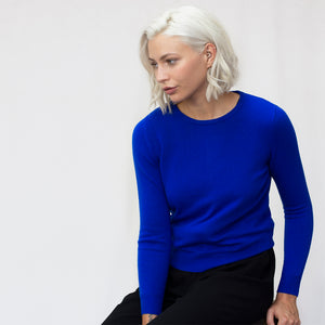 Womens Cashmere Merino Wool Crew Neck Jumper