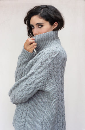 Womens Iggy lambswool Roll Neck Jumper