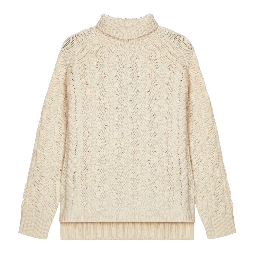 The Iggy Lambswool Jumper in Cream