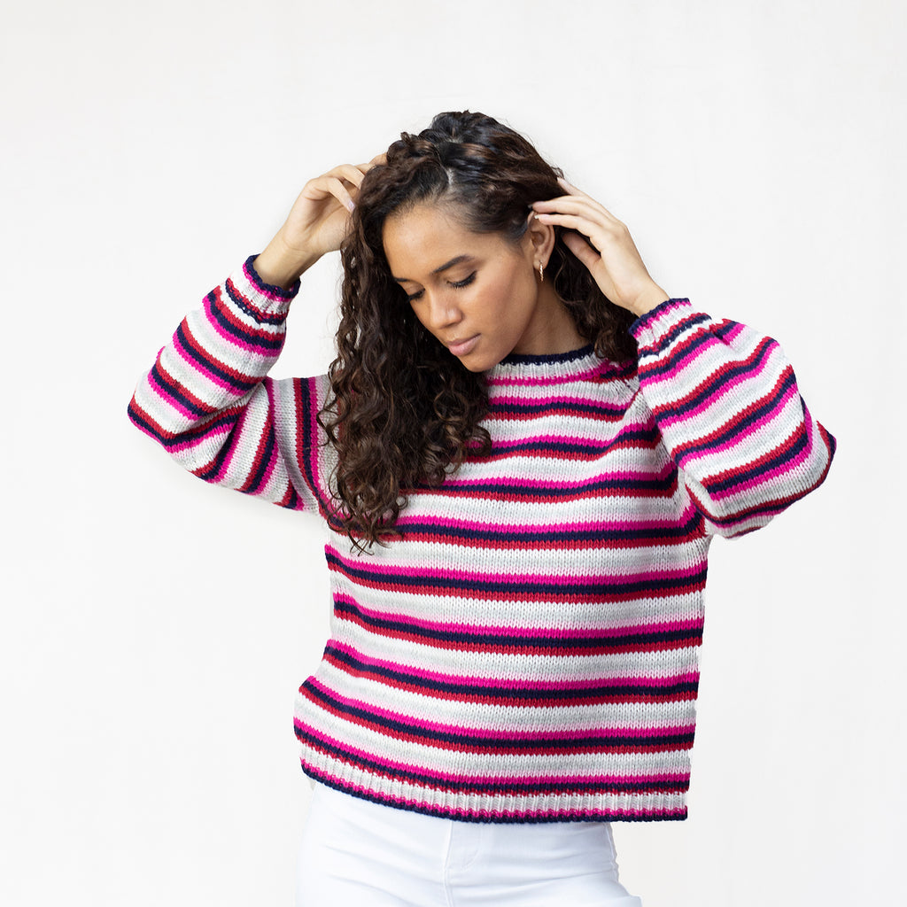 Women's Balloon Sleeve Lambswool Jumper in 100% Lambswool.