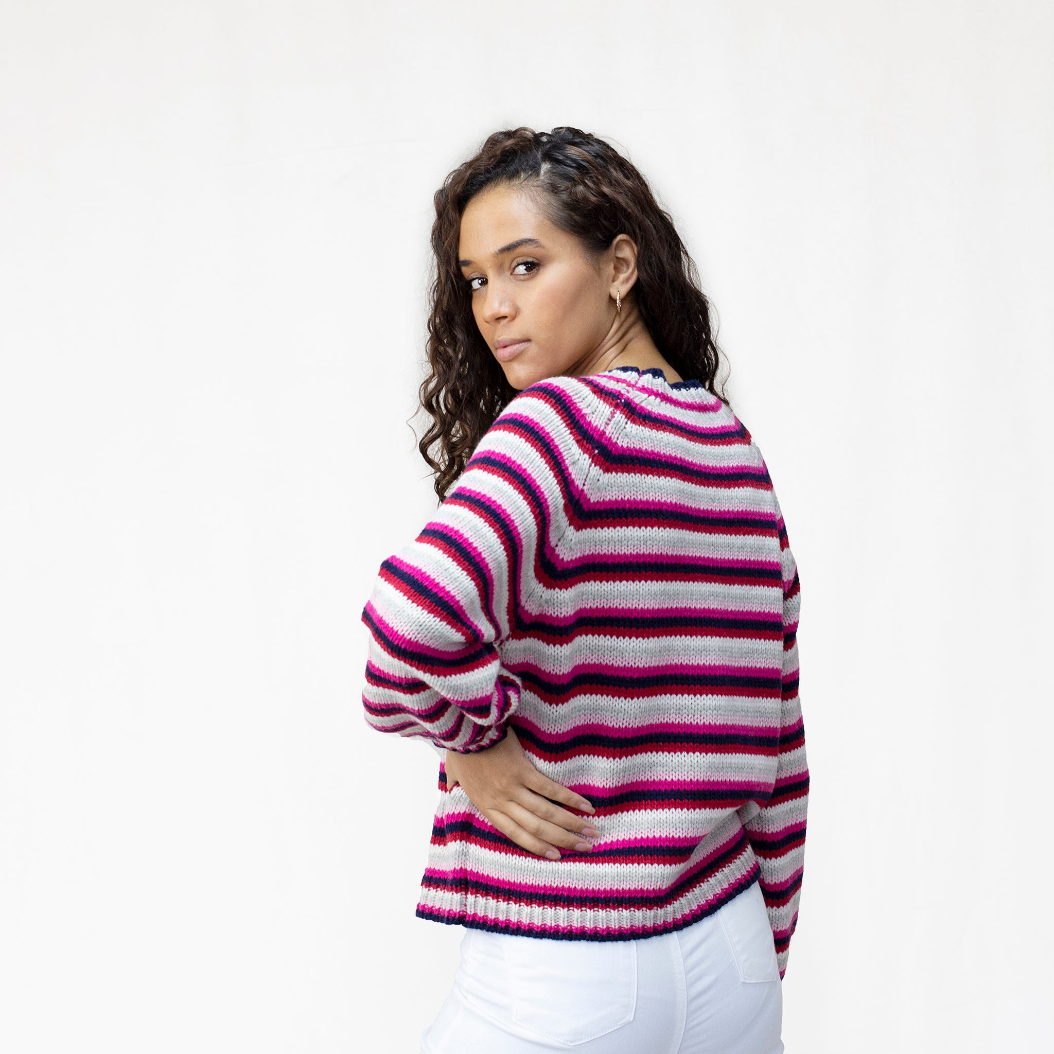 Women's Balloon Sleeve Lambswool Jumper in 100% Lambswool