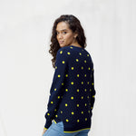 Women's Crew Neck Cotton Spot Jumper