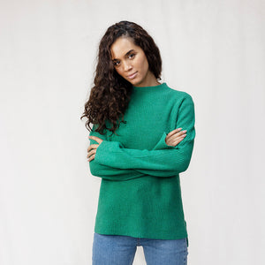 Women's Turtle Neck Ribbed Jumper
