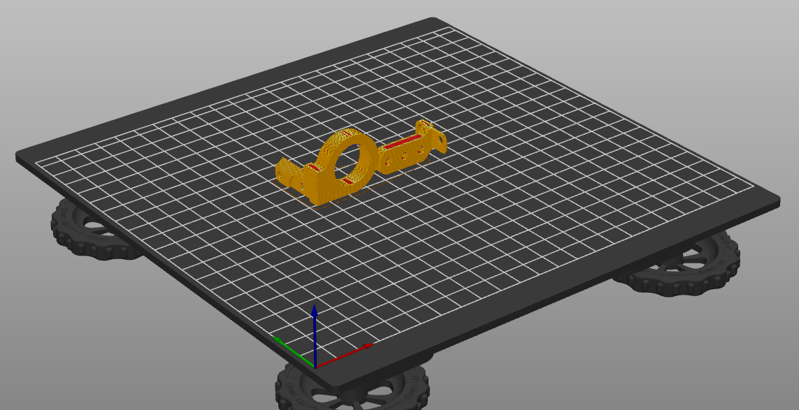 ABL sensor mount after being sliced for KAY3D CoreXY kit