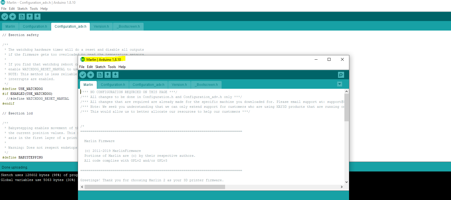 new arduino folder opens. ignore the other one.