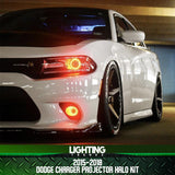 2015-2018 Dodge Charger Projector Halo Kit