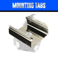 10-Pack of Aluminum Mounting Tabs