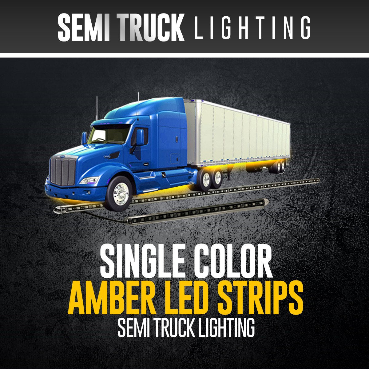 Led Lights For Semi Trucks >> Amber Semi Truck Strip Lighting 3 7