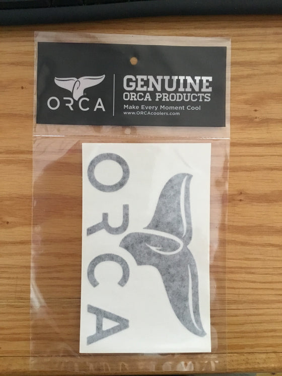 Orca Whale Tail Window Decal Assorted Colors