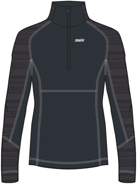 Swix Myrene Midlayer Half Zip Sweater (Womens)