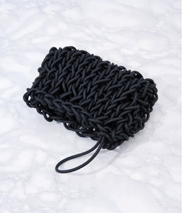 Linda Rubber Knitted Clutch