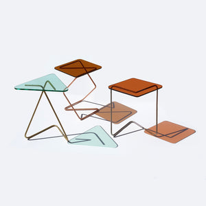 Triangle Crystal Tables by Kray Studio
