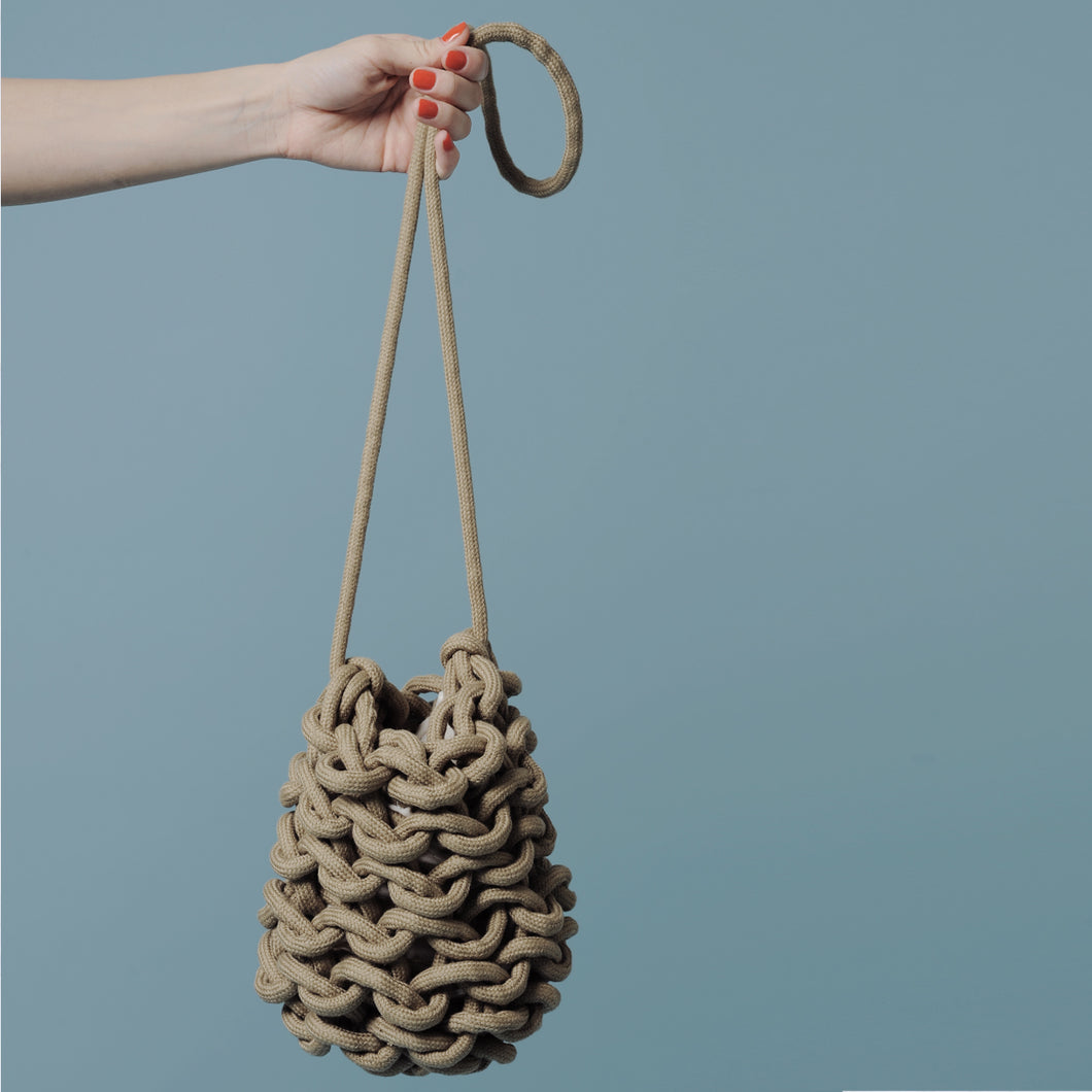 Handmade Knitted Bucket Bag