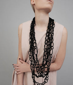 Long Handmade Rubber Necklace