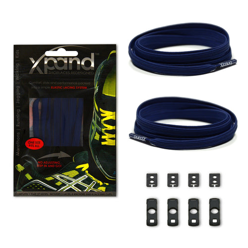 Xpand No Tie Navy Blue Laces