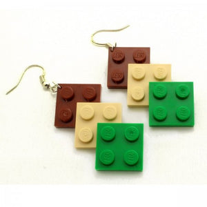 Lego long hook earrings