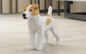 Jack Russell Terrier Building Blocks Sculpture