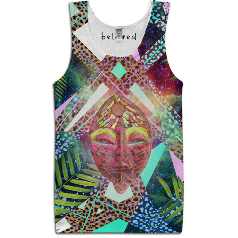 Aztec Mask tank top