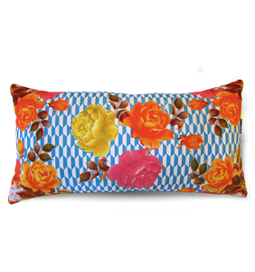 Damascene Flowers Collection Velvet Pillow by Rana Salam