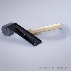 Trousse in Steel Pen Casel by Borgi & Bastormagi