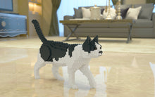 Black And White Cat Building Blocks Sculpture