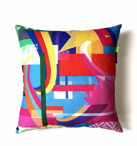 Party Pop Cotton Pillow by Rana Salam