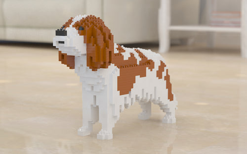 Cavalier King Charles Spaniel Building Blocks Sculpture