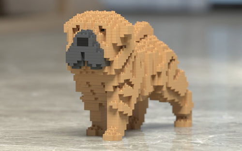 Shar Pei Building Blocks Sculpture