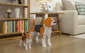 Beagle Building Blocks Sculpture