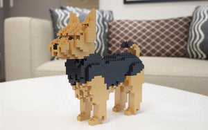 Yorkshire Terrier Building Blocks Sculpture