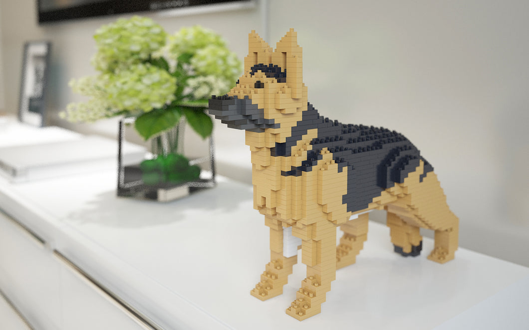 German Shepherd Building Blocks Sculpture