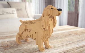 Golden Retriever Building Blocks Sculpture