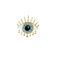 Eye Blue Brooch by Elsa O