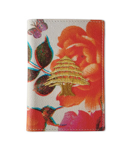 Damascene Flowers Passport Holder by Rana Salam