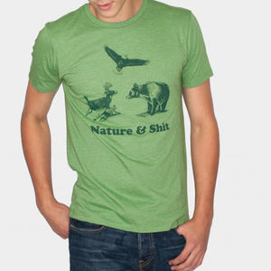 Nature and shit tee