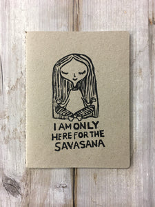 Savasana Large Notebook by Sicou