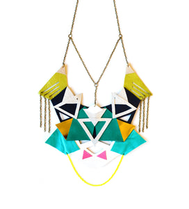 Tribal leather necklace