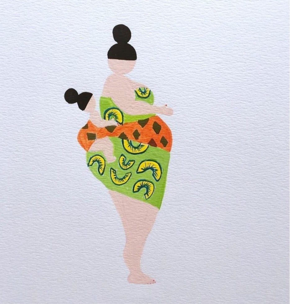 """My Fat Lady"" Mama Africa 2 Painting"