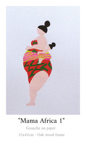 """My Fat Lady"" Mama Africa 1 Painting"