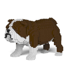 English Bulldog Building Blocks Sculpture