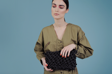 Irene Rubber Knitted Clutch