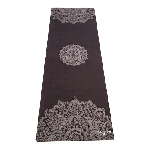 Mandala Black Yoga Travel Mat