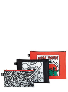 Keith Haring New York Zip Pockets Set