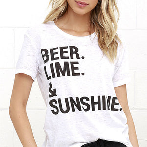Beer Lime & Sunshine tee