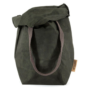 Carry Two Washable Paper Bag In Dark Green (various colors)
