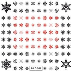 Snowflakes temporary tattoos