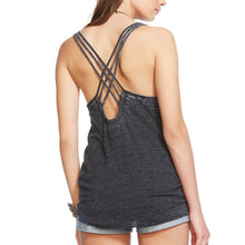 Triblend Black Criss Cross