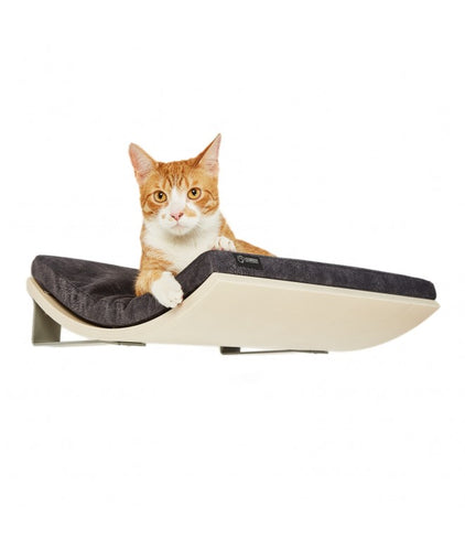 Chill Cat Shelf Maple Smooth Dark Grey