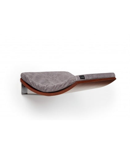 Chill Cat Shelf Walnut Smooth Light Grey